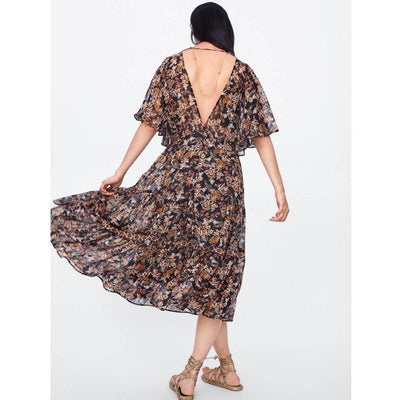 Long Flowery Hippie Dress trendy