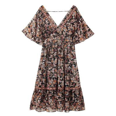 Long Flowery Hippie Dress cheap