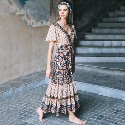 Romantic Hippie Long Dress women