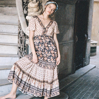 Romantic Hippie Long Dress chaming