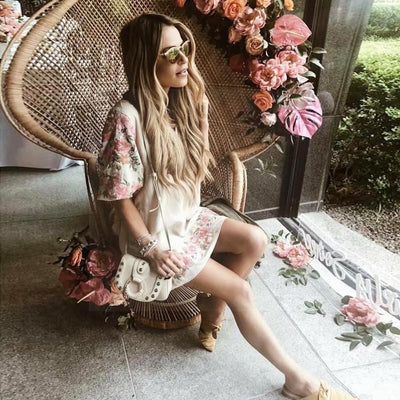 Boho Long Dress Vintage Style women