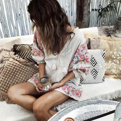 Boho Long Dress Vintage Style beautiful