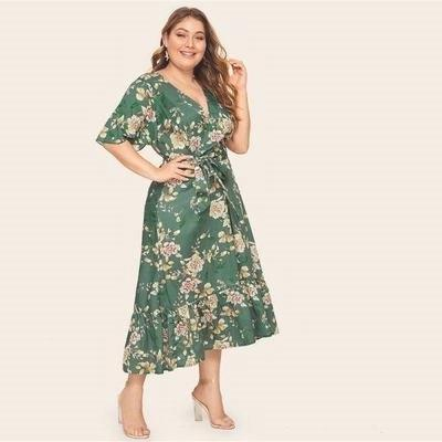 Boho Summer Long Dress Big Size chaming