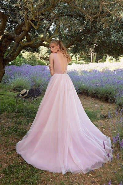 Pink Boho Wedding Dress cute