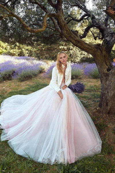 Pink Boho Wedding Dress 2020