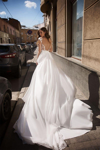 Backless Boho Wedding Dress best