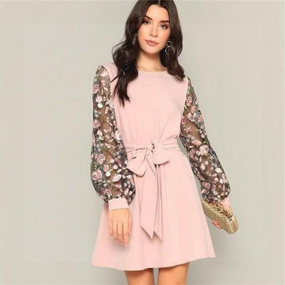 Chic Boho Pink Dress cheap