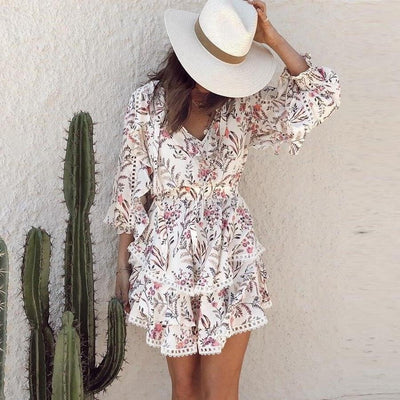 Boho Summer Dress Woman luxury