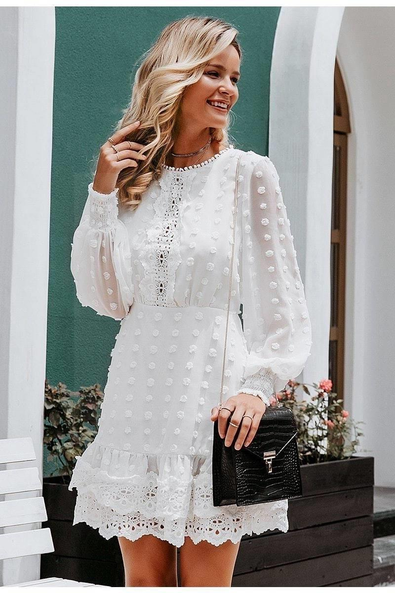 Romantic Boho White Dress style