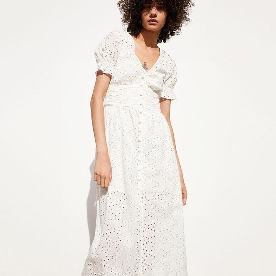 Boho White Dress Chic Woman 1 style