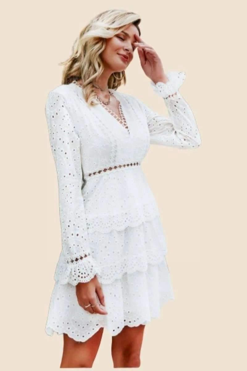 Chic And Boho White Dress bohemian life