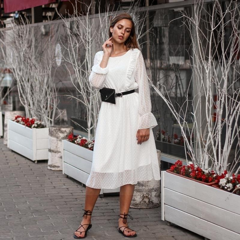 White Lace Boho Style Dress cute