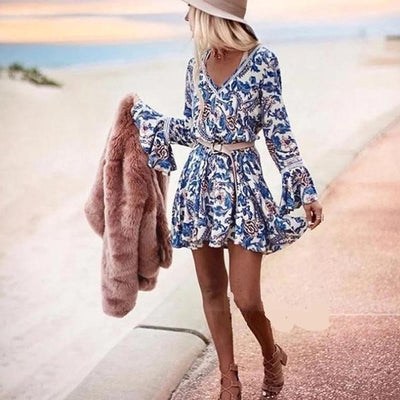 Chic Boho Dress Blue 1 best
