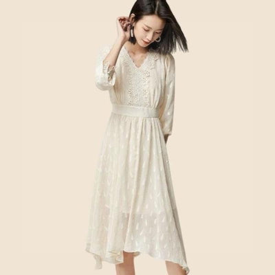 Boho Chic Cream Dress cheap