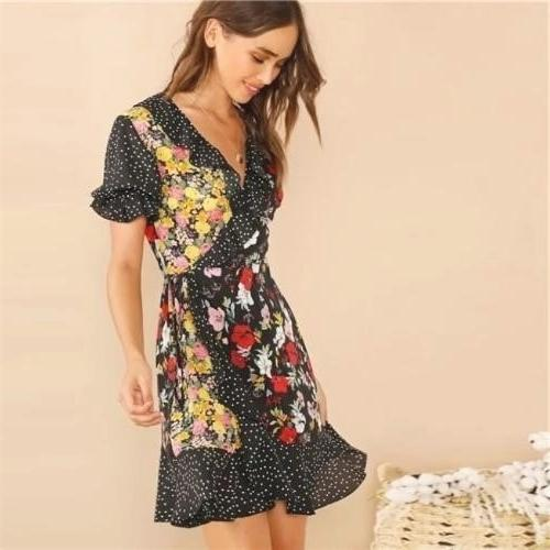 Boho Chic Dress With Short Sleeves cheap