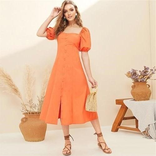 Boho Chic Orange Dress