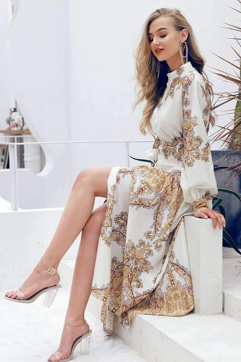 Golden Boho Dress cheap