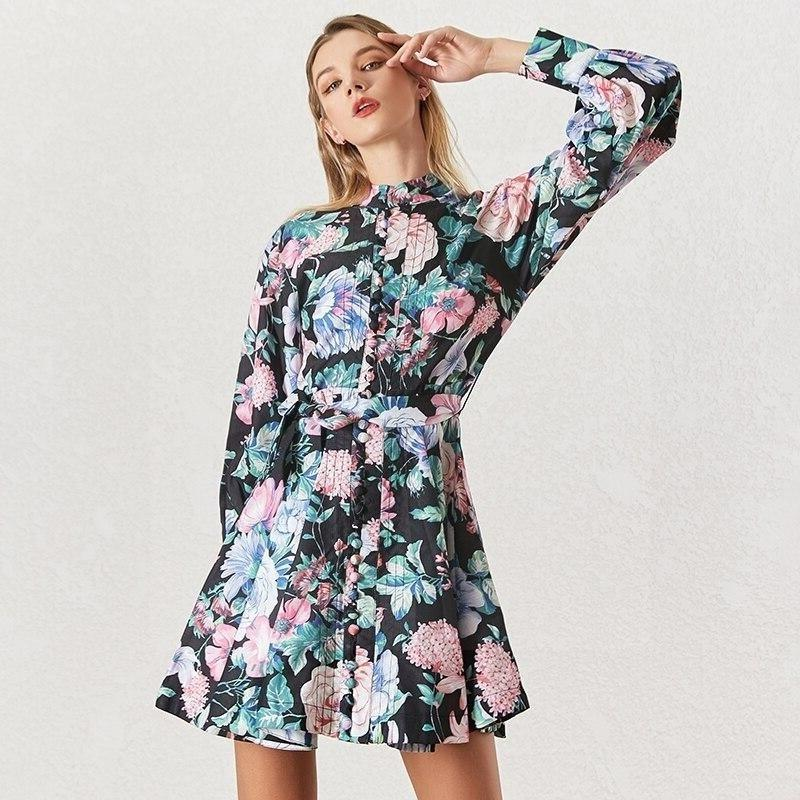 Short Floral Boho Dress hippie