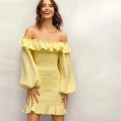 Yellow Boho Dress 2019