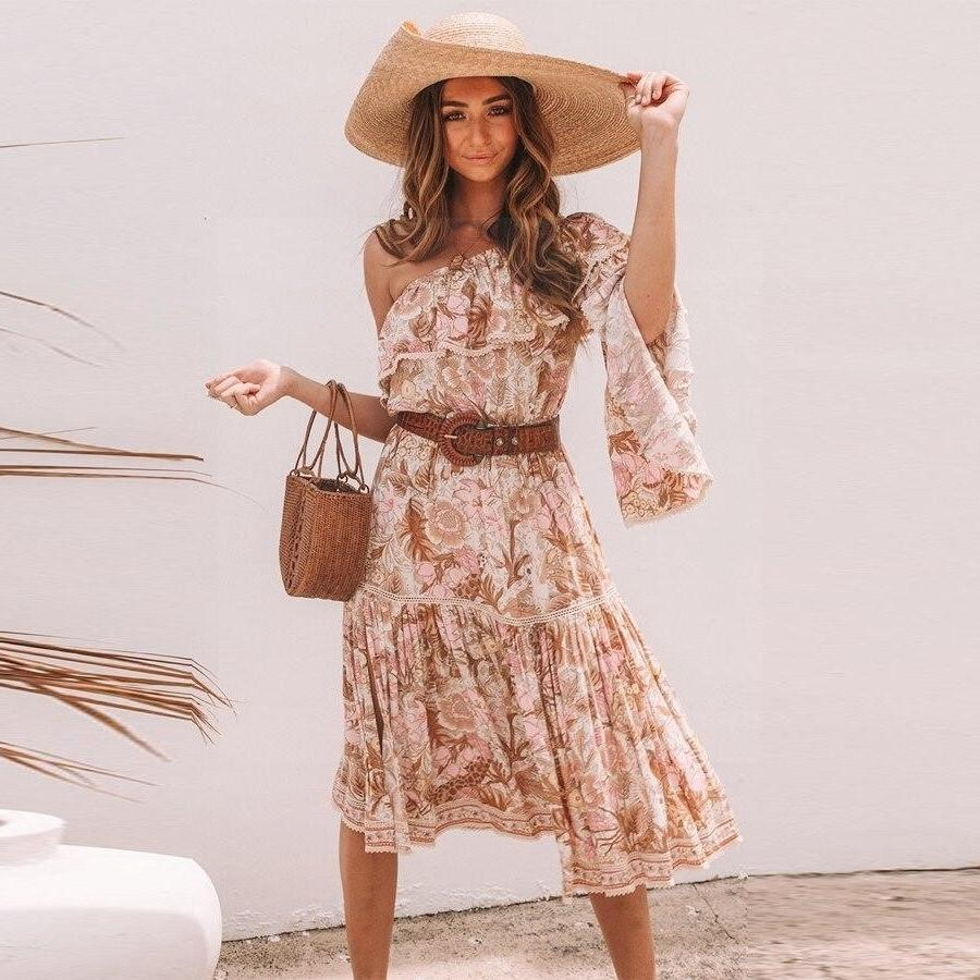 Boho Long Dress Summer 2018 finely tailored