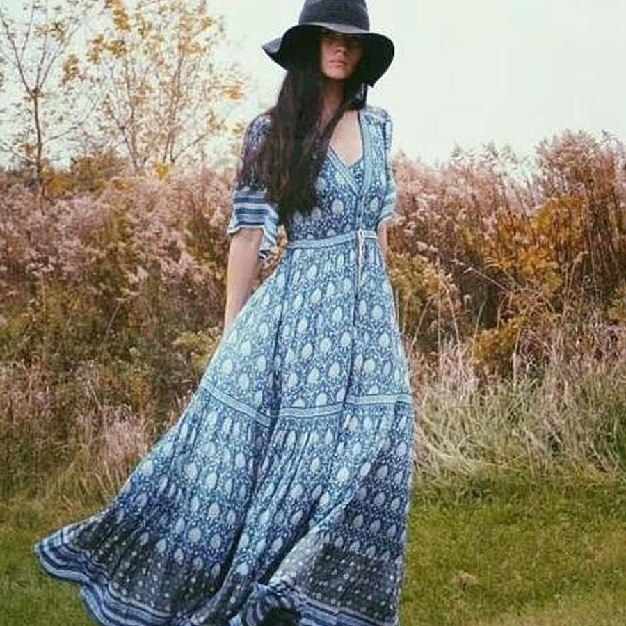 Boho Long Autumn Dress bohemian