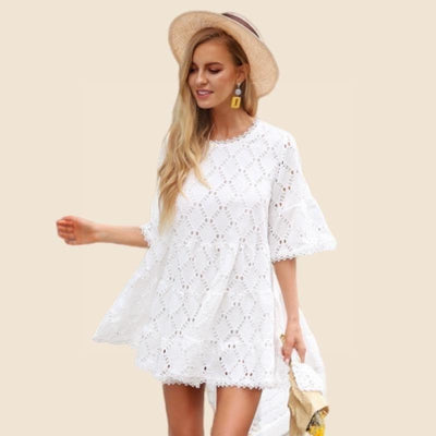 Boho Dress With Short Sleeves boho