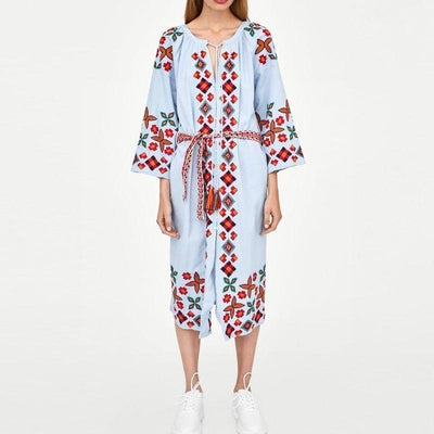 Boho Dress Mid Long Winter best