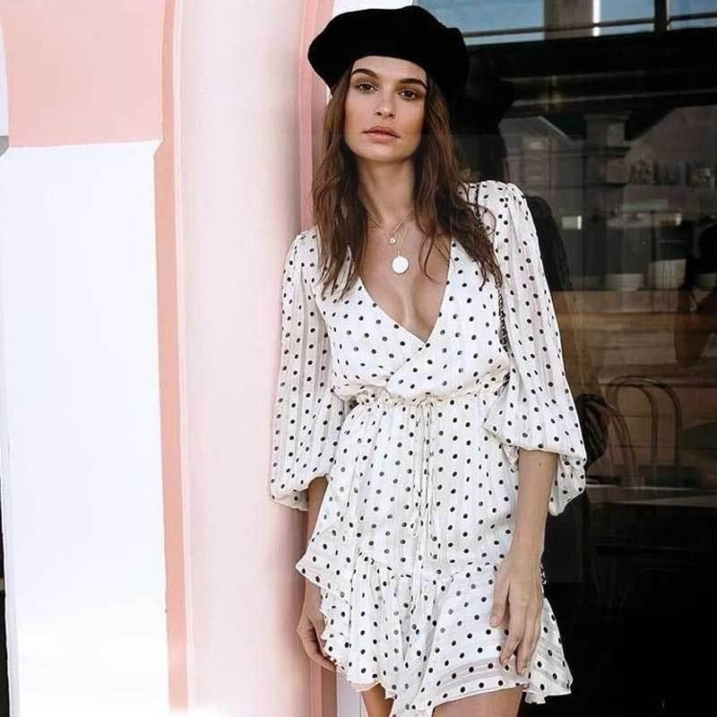 Short White Boho Dress 1 bohemian