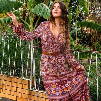 Boho Dress Chic Woman finely tailored