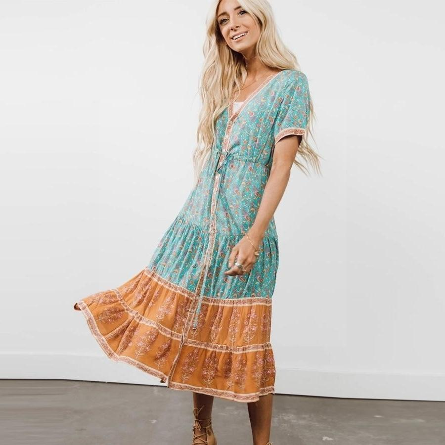 Original Boho Dress Blue 2019