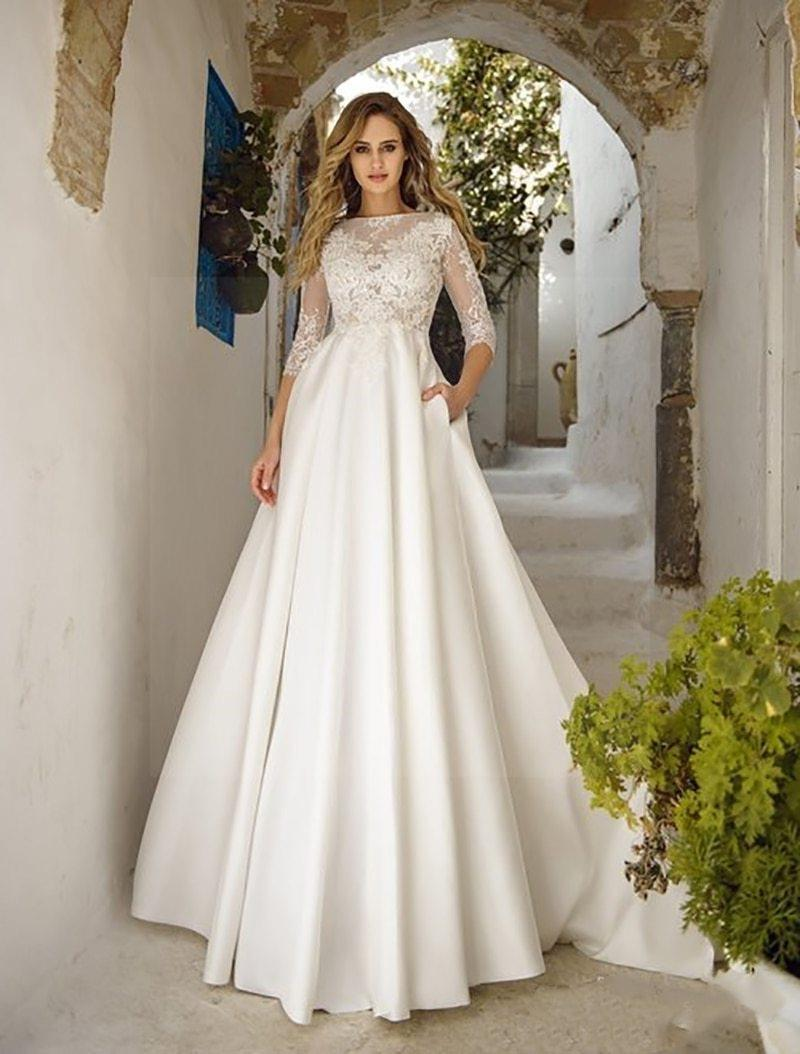 Simple And Boho Wedding Dress finely tailored