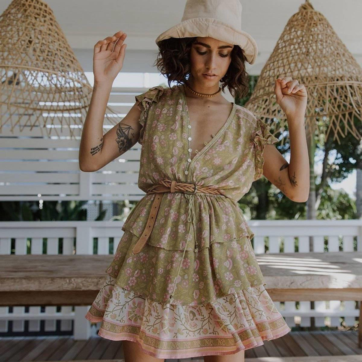 Hippie Dress Quick Delivery boho chic