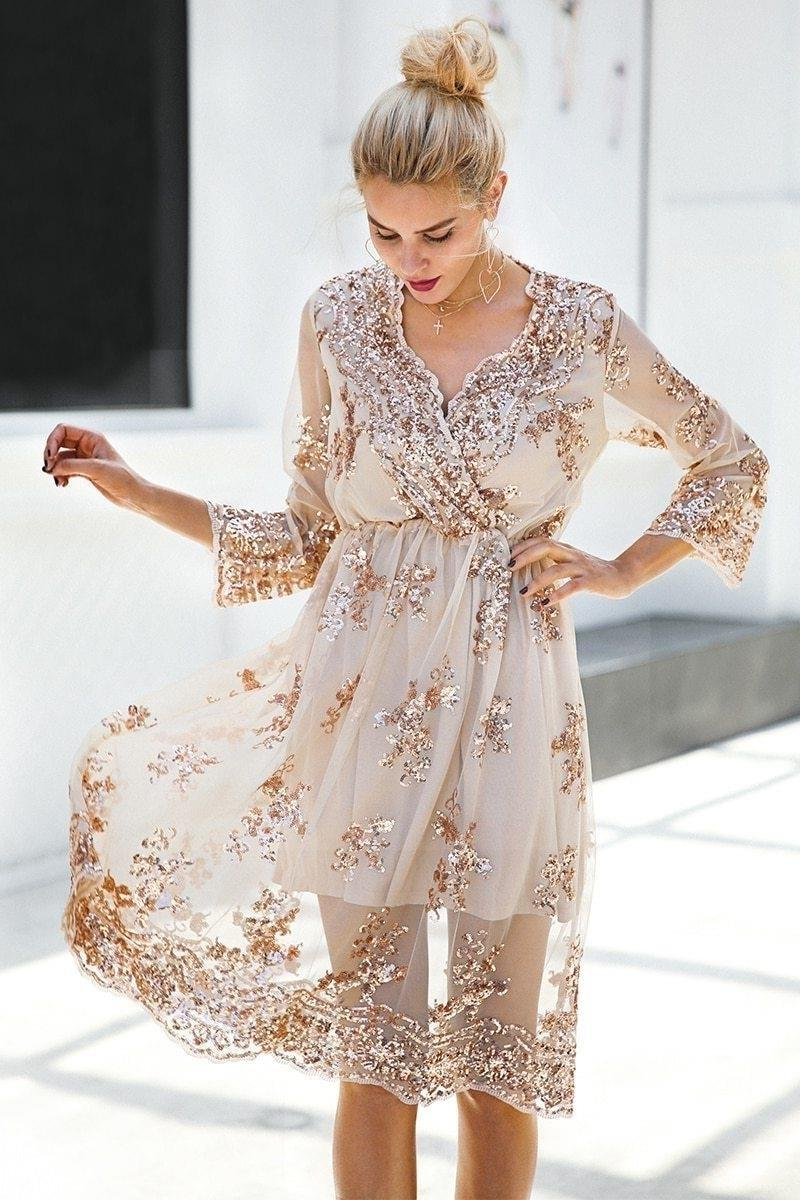 Beige Chic Boho Long Dress review