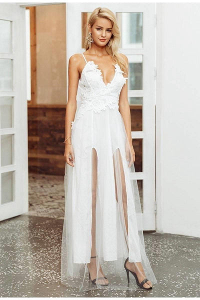 White Chic Boho Long Dress chaming