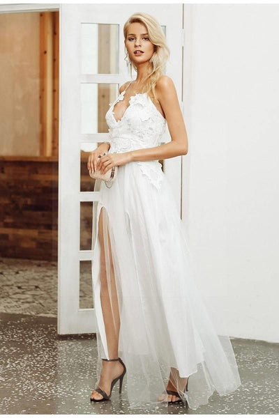 White Chic Boho Long Dress boho