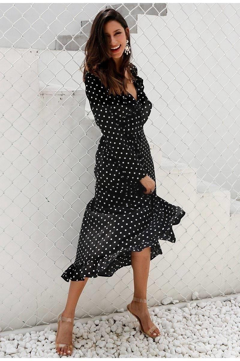 Black Chic Boho Long Dress chaming