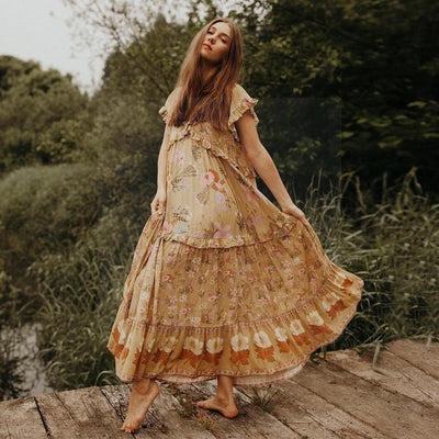 Boho And Chic Long Dress boho chic