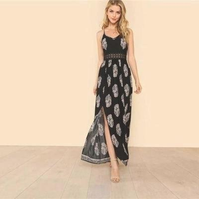 Black Boho Long Dress boho