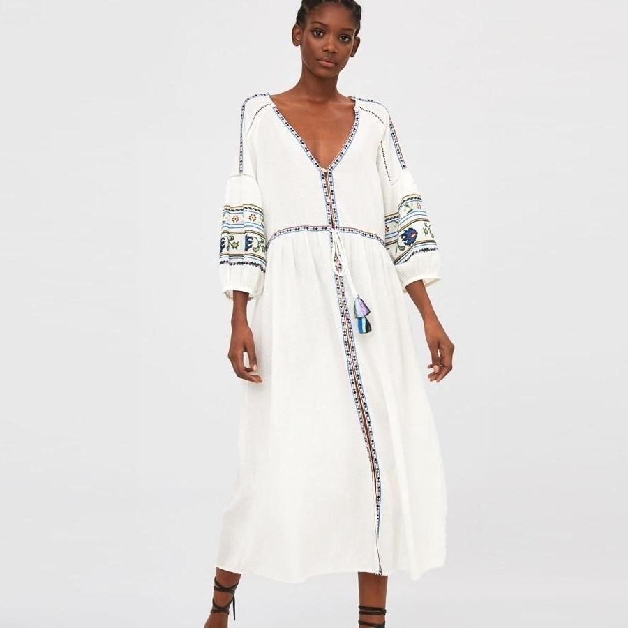 Boho Long Dress Autumn 2019 hippie