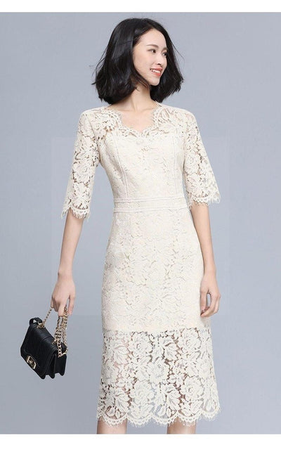 Boho Lace And Chic Long Dress beautiful