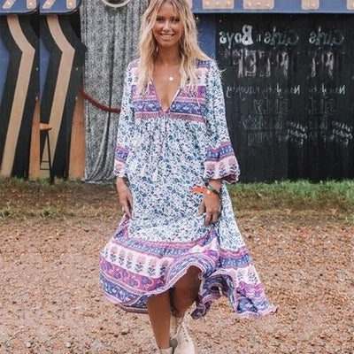 Hippie Boho Spirit Long Dress finely tailored
