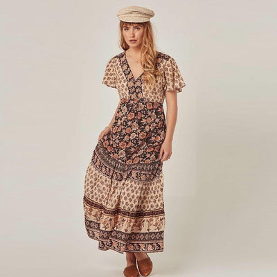 Romantic Hippie Long Dress luxury