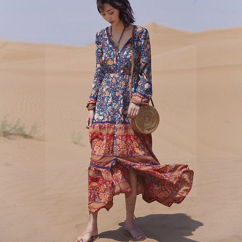 Boho Winter Long Dress bohemian life
