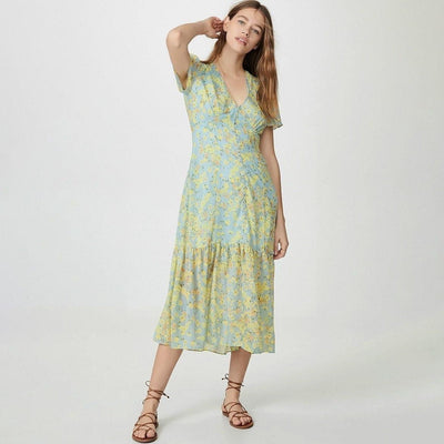 Hippie Chic Green Long Dress cute