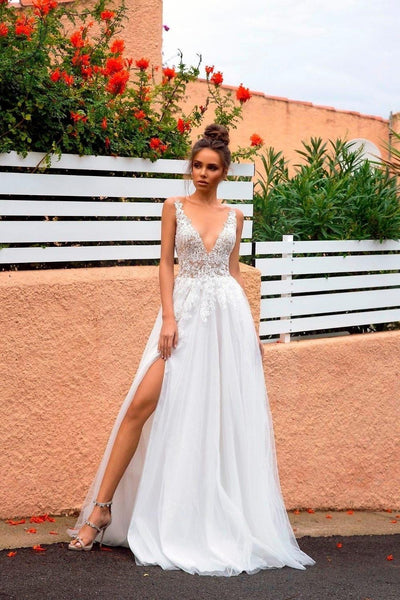 Boho Beach Wedding Dress finely tailored
