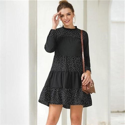Boho Black Dress Chic luxury