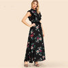 Boho Long Flowered Dress Chic low price