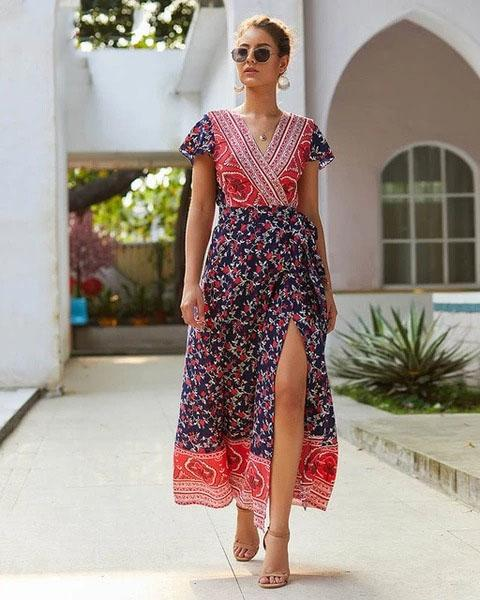 Boho Long Dress Hippie Chic 2019