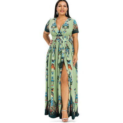 Boho Chic Long Dress Large Size 2019