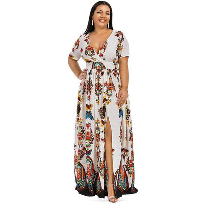 Boho Chic Long Dress Large Size luxury